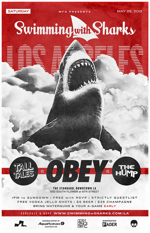 Obey x Swimming w/ Sharks