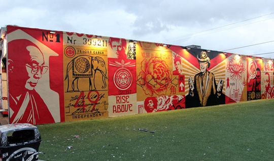Stepard Fairey Mural!